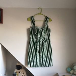 Striped Corduroy UO Clasp Button Front Dress NWT